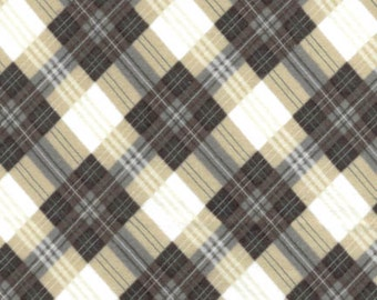Catch of the Day - Beige Mad for Plaid from Benartex