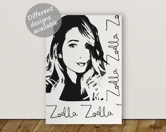 Handmade Zoella Picture/Painting