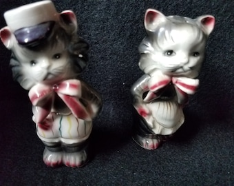 1930s Mr. and Ms. Kitten Salt and Pepper Shakers