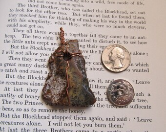 Item 2301 Crazy Horse Stone Copper Wire Wrapped Pendant