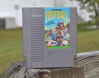Vintage Nintendo Game Play Action Football TOSE 1992, NFL, Gridiron, NES, Pro Players, Football Game, Los Angeles, Denver, Washington