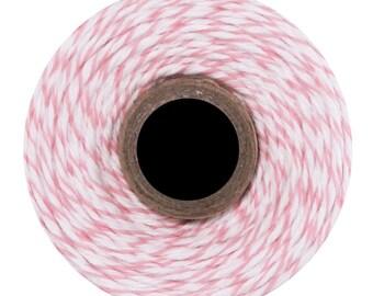 Cotton candy Divine Twine - 10 m - pink & white