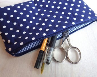Dottie - big polka dot - Pencil Case Pouch Case