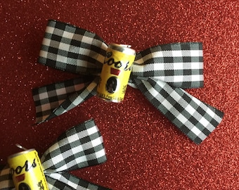Beer Bows! Coors Beer Cans Custom Color Hair Bows
