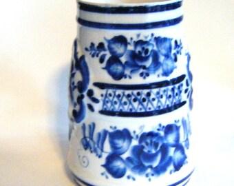 Gorgeous Hand Painted Antique Porcelain Rauenstein Stein Well Marked