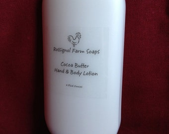Cocoa Butter Unscented 4 oz Hand and Body Lotion with Chamomile Infused Olive Oil