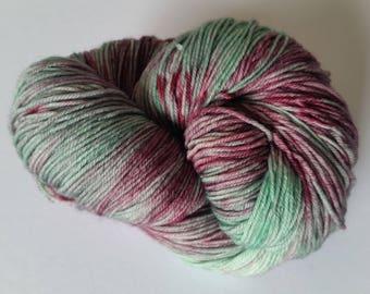 Hastings point OOAK Oxley Base 80 merino 20 nylon sock yarn 373m 100g