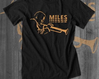 Miles Davis Jazz T Shirt tops and tees t-shirts t shirts| Free Shipping
