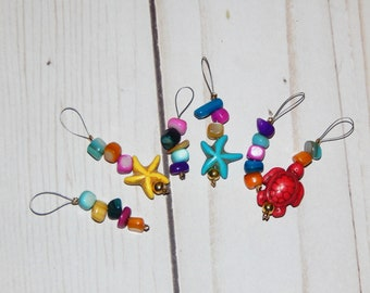Stitch Markers - Knitting - Down by the Sea