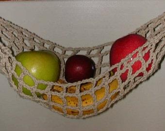 Banana Hammock, Fruit Hanger, Holder, Net, Tan