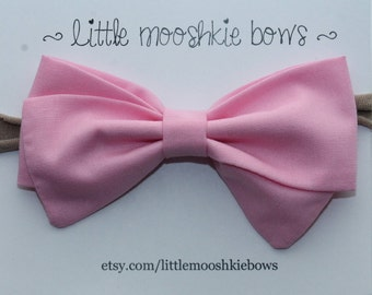 Classic Vivian Bow ~ Bubble Gum~Girls Hair Bow~Fabric Bow~Baby Bows~Hand Tied Bow~Baby headband ~baby girl ~toddler girl