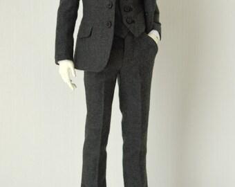 SD_Gray Wool Suit for DollShe 28M