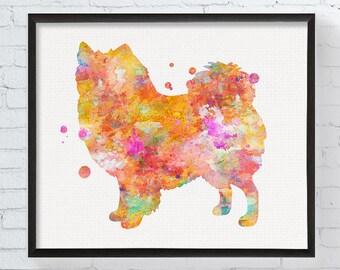 American Eskimo Art, American Eskimo Print, Watercolor American Eskimo, American Eskimo Wall Decor, Dog Lover Gift, Watercolor Dog, Dog Art
