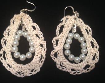 Downton Abbey inspired Victorian beaded earrings