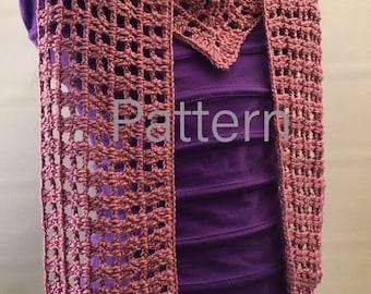 PDF Pattern | Scarf Pattern, DIY Infinity Scarf Download, Crochet Pattern, Easy Scarf Pattern, Spring Scarf Pattern