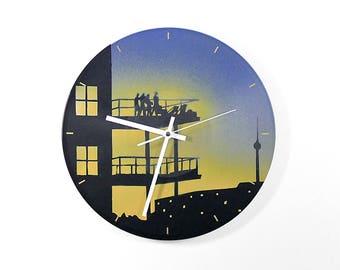 Vinyl Wall clock: party. With a silent quartz movement. Vinyl wall Clock party. With Silent Quartz Clockwork