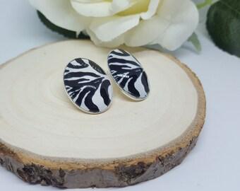 Sweet Zebra Earrings Vintage