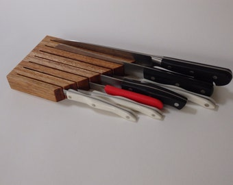 In-Drawer Knife Block, Knife Block Drawer, Compact Knife Block, Handmade Knife Block, Knife Organizer