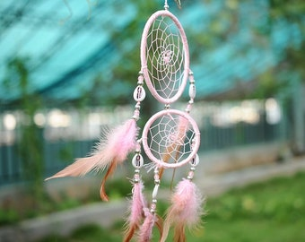 Dream catcher, Feather Dream Catchers, Bohemian modern wall hanging Dreamcatcher hanging decoration