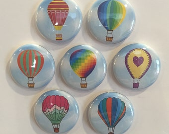 Hot Air Balloons Magnets - set of 7