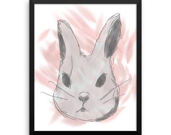 Pink Rabbit Triptych