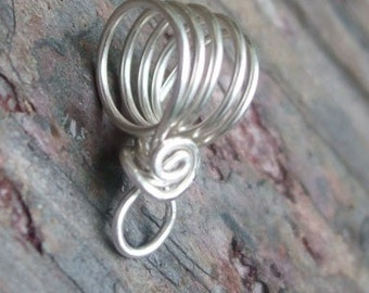 Handmade Sterling Silver filled Bail VI, PurpleLily Designs, SRA Suitable for Viking Knit