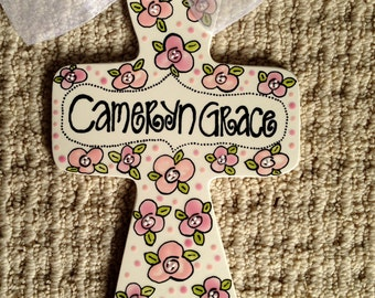 Hand Painted Personalized Cross