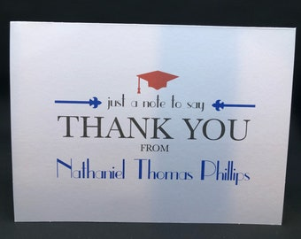 Graduation Personalized Thank You Cards