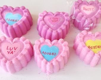 Sweetheart Bath Bomb, Heart Bath Bomb, Pink Passionate Kisses Bath Bomb, Valentine Bath Bomb, Cruelty Free Bath Bomb, Spa Bath Bomb