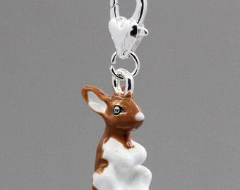 Enamel Brown rabbit charms