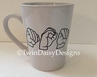 Mom - American Sign Language (ASL) 14oz Coffee Mug