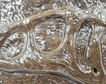 velociraptor wall tile - ceramic wall art