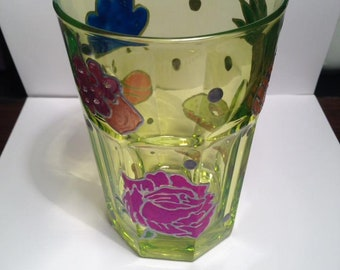 Unique hand painted cups, glasses etc. (more than one in listing)
