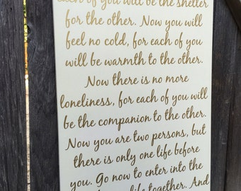 Apache wedding blessing apache wedding prayer wood sign