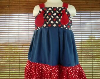 PATRIOTIC July 4th Knot Dress