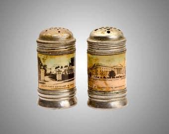 Washington DC pictorial souvenir salt pepper shakers 19th century