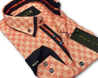 Poplin Gingham Check Slim Fit Shirt