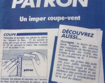 sewing pattern PRIMA - RAINCOAT jacket for children - REF. 3.88