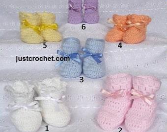 6 booties Baby Crochet Pattern (DOWNLOAD) 97