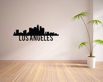 24 Inch Los Angeles City Skyline Vinyl Wall Decal