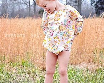 Long Sleeve Romper, Summer Romper, Spring Romper, Newborn Photo Prop, Baby Romper, Toddler Romper, Floral Romper, Baby Shower Gift