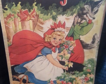 Little Red Riding Hood Vintage Book-1939.