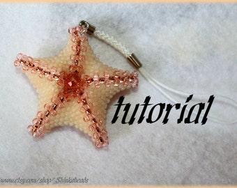 Starfish pendant or hairpin Beading Pattern PDFpendant beading pattern tutorial technique
