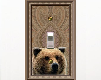 1571a  - bears head - mrs butler switch plate covers - choose sizes / prices from drop down box