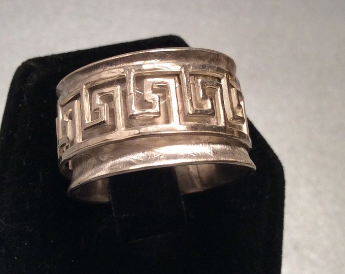 REserved for Nancy Buha Sterling silver spinner ring