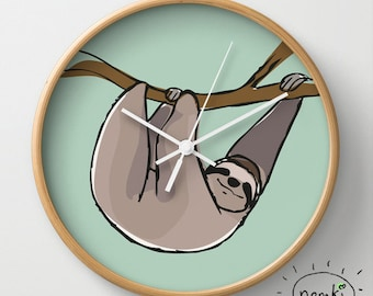Sloth Clock Sloth Decor Sloth Home Sloth Wall Decor Sloth Decoration Sloth Birthday Gift Sloth Gifts for Him Sloth Gifts Her Sloths