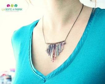 "Necklace plume ""Ketya"" - design 2016"