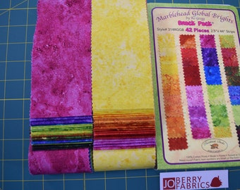 Bright Colors from the Marblehead Global Brights Collection by Ro Gregg for Paintbrush Studio.  Quilt or Craft Fabric.