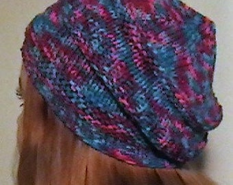 Multi-Colored Beanie and Necktie Scarf