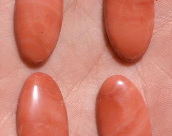 2 Pair Natural Pink Quartz Cabochon Pair Loose Gemstone 9.50 Gram Pink Quartz Gemstone Wholesale Price Matched Pair Gemstone Pair Cabs